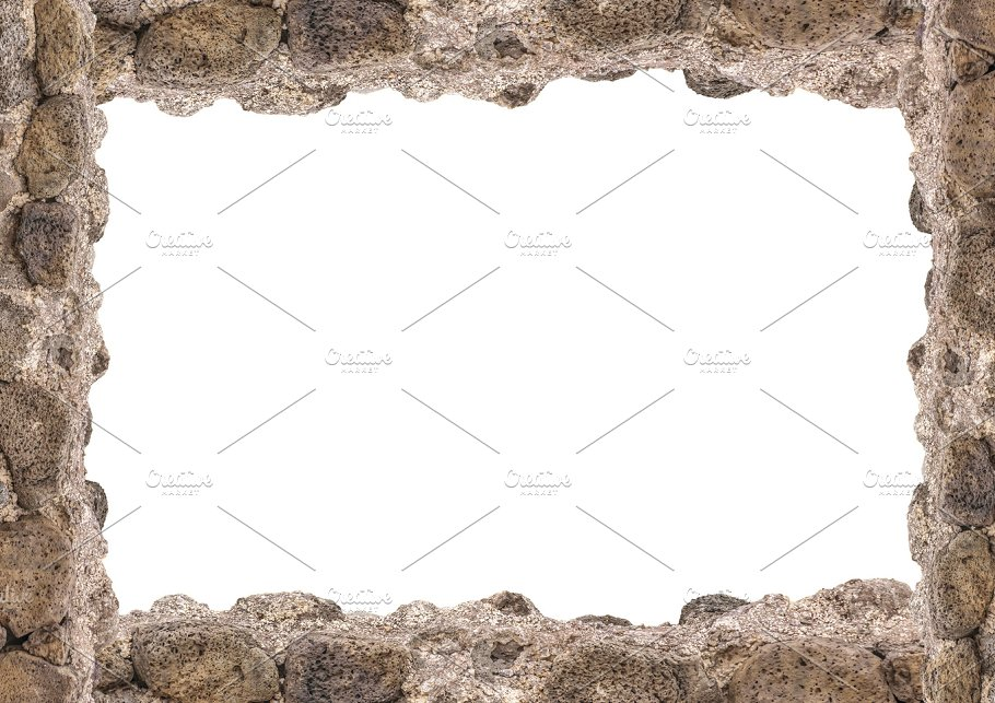 Landscape White Frame With Rock Borders ~ Nature Photos ~ Creative ...