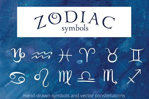 Zodiac Symbols and Constellations