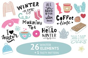 Winter illustration & lettering