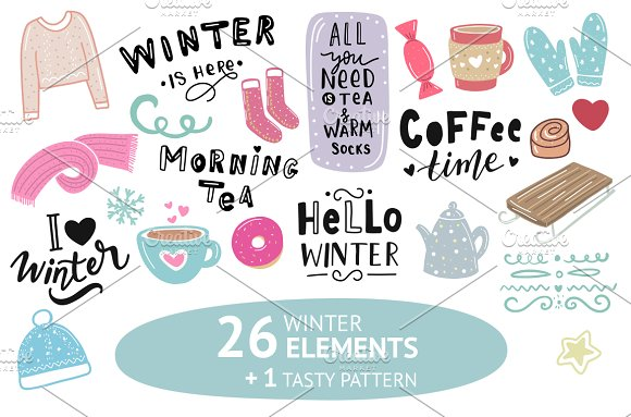 Winter Illustration Lettering