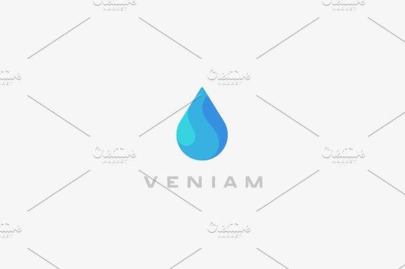 Abstract Water Aqua Logo Design Water Drop Vector Logotype