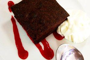 Sweet dessert on a plate
