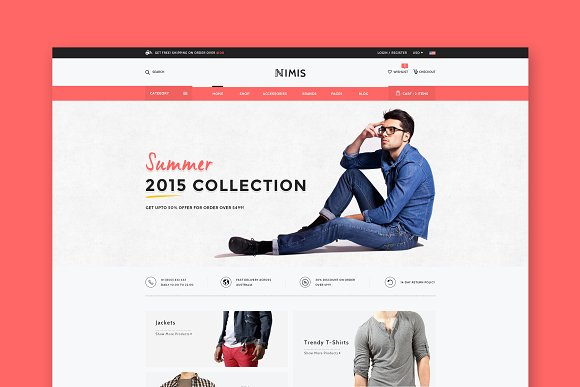 Nimis ECommerce Shop HTML Template
