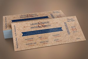 Cardboard Boarding Pass Invitation