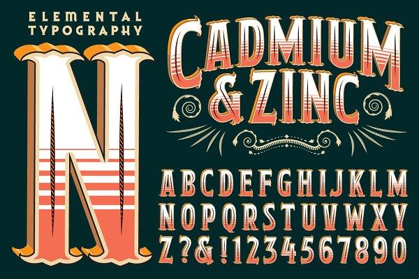 Lettering Design: Cadmium & Zinc
