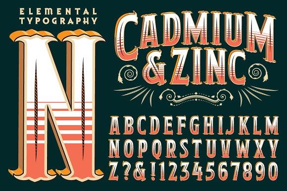 Lettering Design Cadmium Zinc