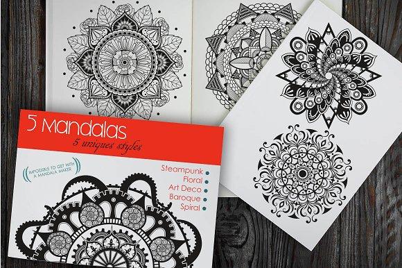 5 Mandalas In 5 Unique Styles