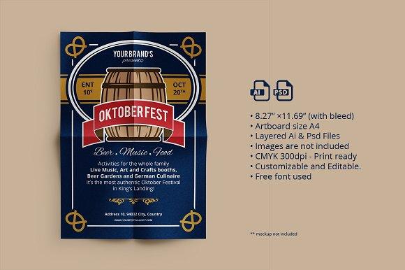 Oktober Fest Flyer Poster 02