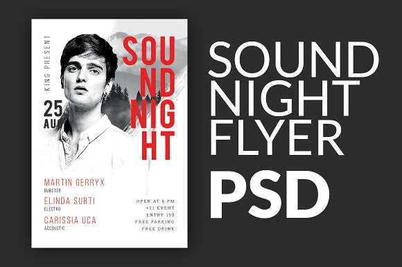 Sound Night Event Flyer