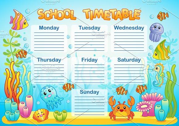 School Timetable Underwater World