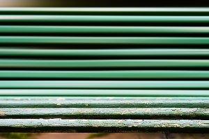 Horizontal dramatic park bench bokeh background