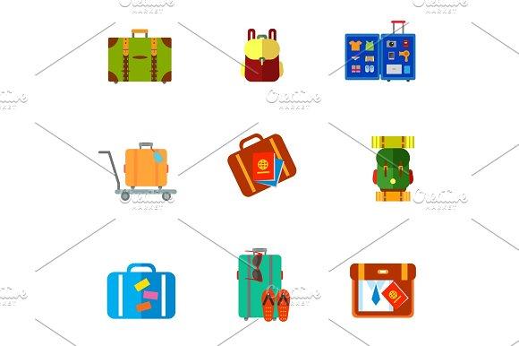 Baggage Icon Set