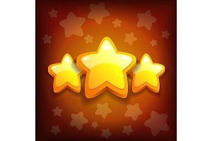 Vector illustration game icon congrats stars