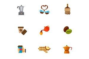Coffee break icon set