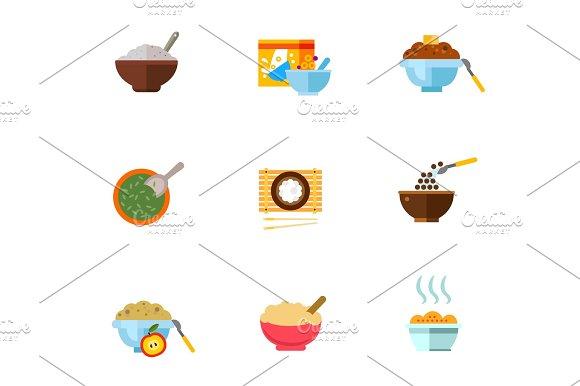 Healthy Breakfast Icon Set