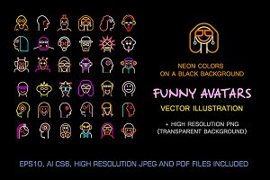 Set of Funny vector avatars (part 2)