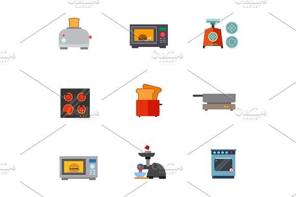 Kitchen Appliances Icon Set