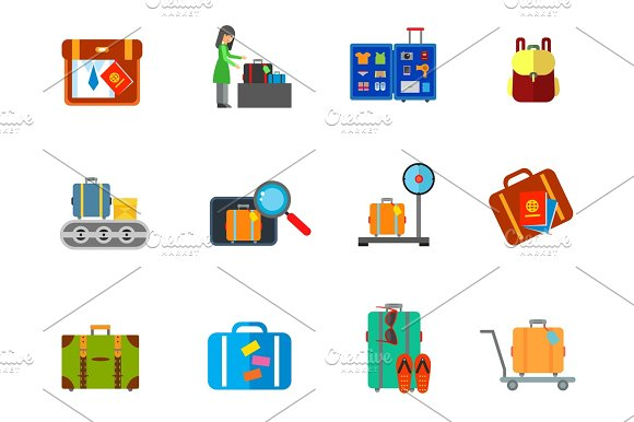 Luggage Icon Set