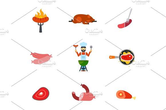 Pork Icon Set
