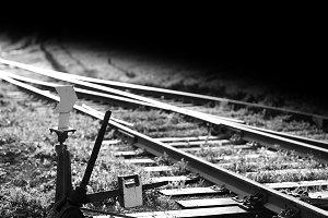 Railroad track switch background