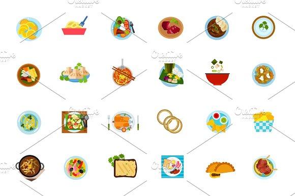 Traditional Food Icon Set