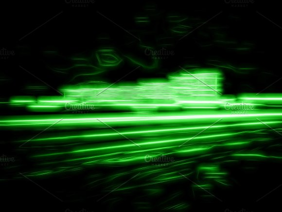 Green Abstract Office Buildings Illustration Background