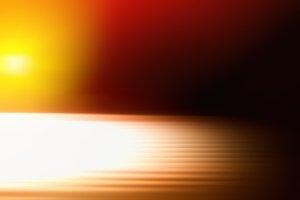 Diagonal orange motion blur with light leak background