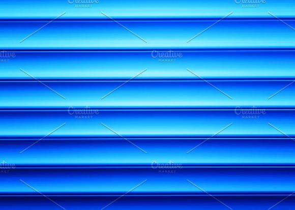 Horizontal Blue Bars Illustration Background