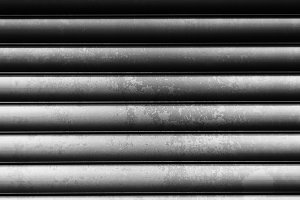 Horizontal black and white vintage metall texture background