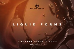 Liquid Forms Video Backgrounds