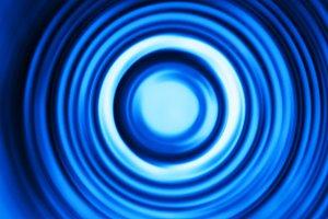 Blue motion blur teleport swirl background