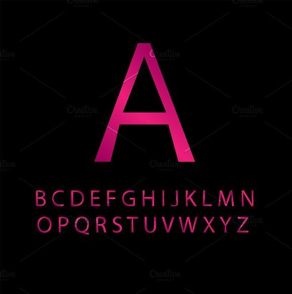 Pink Font Vector