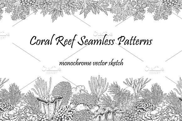 Coral Reef Seamless Patterns