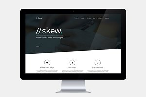 Skew - One Page & Multipage WP Theme