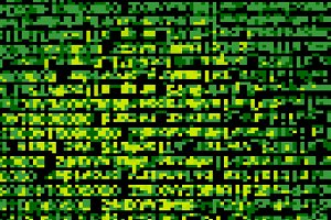 Green terminal pixel mess texture background