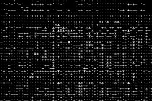 Horizontal black and white computer symbols texture background