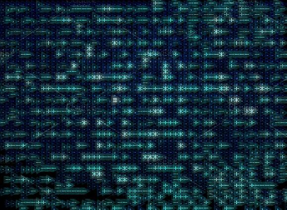 Computer Pixel Space Texture Background