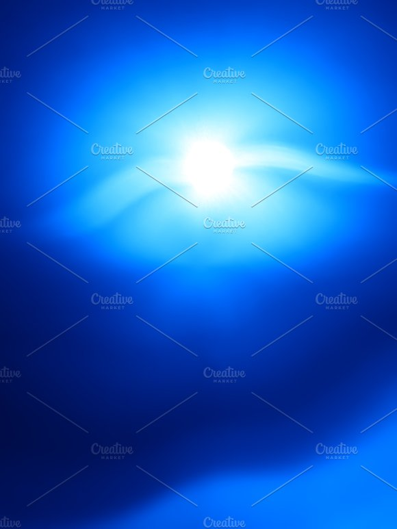 Vertical Blue Flying Creature Bokeh Background