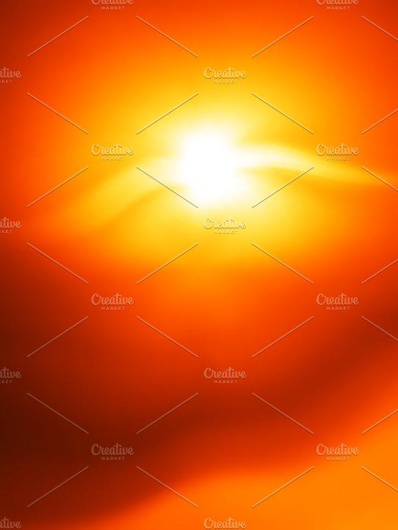 Vertical Orange Flying Creature Bokeh Background