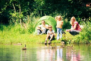 Family Having Fun Outdoors