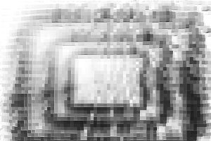 Black and white pixel blocks illustration background
