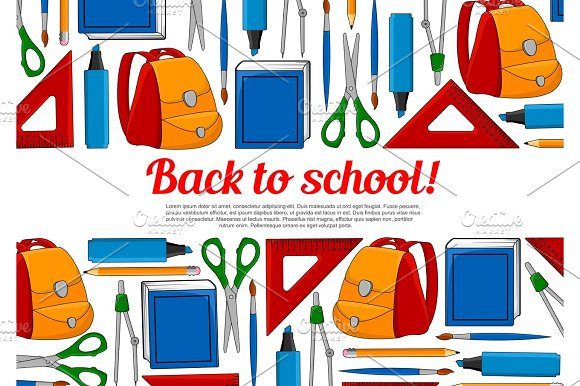 Back To School Vector Education Poster