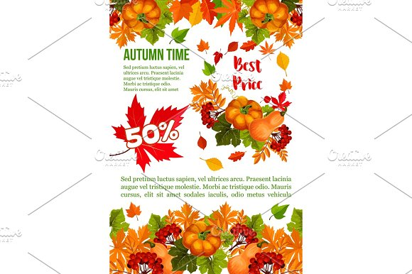 Autumn Sale Banner Template For Thanksgiving Day