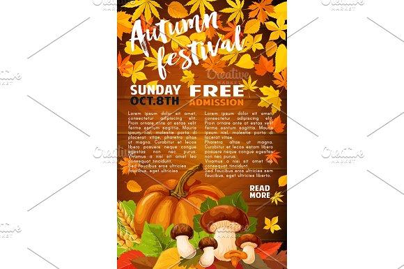 Autumn Harvest Festival Banner Of Fall Season