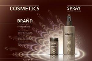 Vector brown realist cosmetics mocku