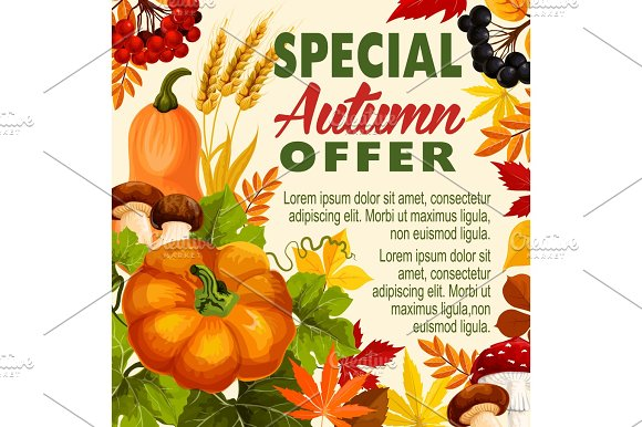 Autumn Sale Fall Season Special Offer Poster