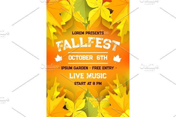 Autumn Harvest Festival Fall Season Banner Design