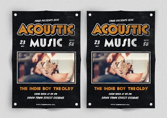 Acoustic Music Flyer