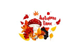 Autumn or fall nature season poster design
