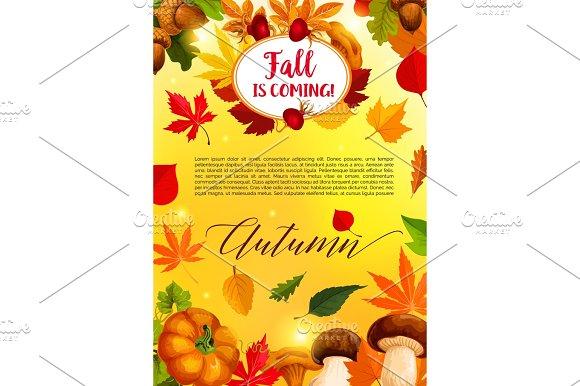 Autumn Leaf And Harvest Vegetable Banner Template